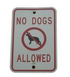 Segno del cane Fotografia Stock Libera da Diritti