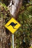 Segno del canguro Fotografie Stock