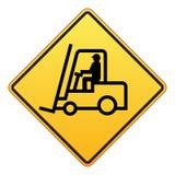 Segno del carrello elevatore a forcale illustrazione di stock