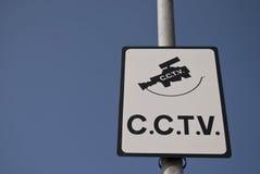 Segno del CCTV Fotografia Stock Libera da Diritti