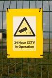 Segno del CCTV Fotografie Stock Libere da Diritti