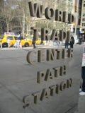 Segno del centro di commercio mondiale Immagine Stock