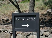 Segno del centro di vendite Immagini Stock