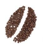 Segno del chicco di caffè Immagine Stock Libera da Diritti