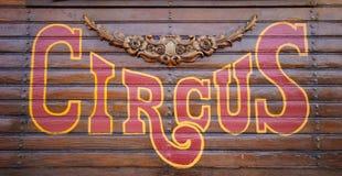 Segno del circo Fotografia Stock