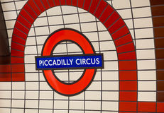 Segno del circo di Piccadilly Immagine Stock Libera da Diritti