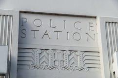 Segno del commissariato di polizia Immagine Stock