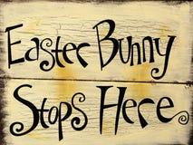 Segno del coniglietto di pasqua Fotografie Stock Libere da Diritti