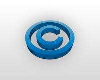 Segno del copyright Immagine Stock Libera da Diritti