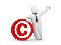 Segno del copyright e della persona Immagini Stock