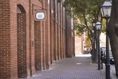 Segno del corridoio di città Fotografia Stock Libera da Diritti