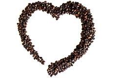 Segno del cuore del caffè fotografie stock libere da diritti