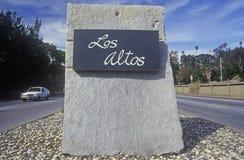 segno del ½ del ¿ di Los Altosï del ½ del ¿ del ï, negativi per la stampa di cartamoneta di Los, Silicon Valley, California Immagini Stock Libere da Diritti