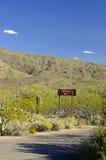 Segno del deserto Fotografia Stock
