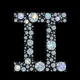 Segno del diamante dei Gemelli dello zodiaco Immagine Stock