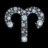 Segno del diamante dell'Ariete dello zodiaco Immagini Stock