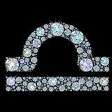 Segno del diamante della Bilancia dello zodiaco Immagine Stock