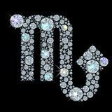Segno del diamante dello scorpione dello zodiaco Fotografie Stock