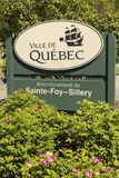 Segno del distretto della Quebec Fotografie Stock Libere da Diritti