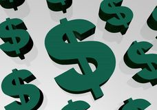 Segno del dollaro Fotografia Stock