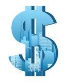 Segno del dollaro Fotografia Stock Libera da Diritti