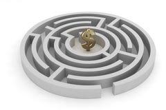 Segno del dollaro del labirinto Illustrazione Vettoriale
