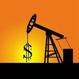 Segno del dollaro della pompa di olio Immagine Stock