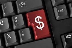 Segno del dollaro della tastiera di calcolatore Fotografia Stock