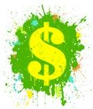 Segno del dollaro di Grunge Immagini Stock Libere da Diritti