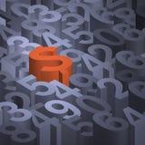 Segno del dollaro sui numeri Immagini Stock