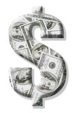 Segno del dollaro US Immagini Stock Libere da Diritti