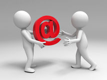 Segno del email Fotografie Stock