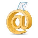 Segno del email Immagine Stock