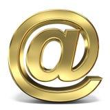 Segno del email all'illustrazione della rappresentazione di simbolo 3D sul backgro bianco illustrazione vettoriale