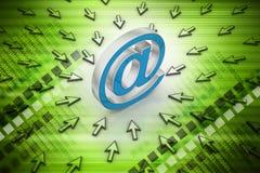 Segno del email con il puntatore del mouse Immagini Stock