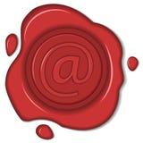Segno del email della guarnizione della cera Immagine Stock Libera da Diritti