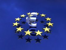 Segno del Europa Fotografia Stock