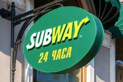 Segno del fast food del sottopassaggio Immagine Stock