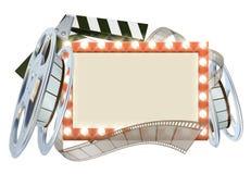 Segno del film del cinema Fotografie Stock Libere da Diritti