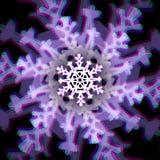 Segno del fiocco di neve di Natale con le aberrazioni Fotografia Stock