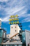 Segno del fiore della medaglia d'oro e museo della città del mulino Fotografie Stock