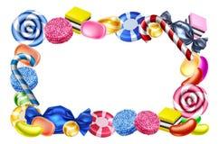 Segno del fondo della struttura dei dolci di Candy illustrazione di stock