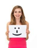 Segno del fronte di sorriso Fotografia Stock Libera da Diritti