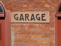 Segno del garage Fotografia Stock Libera da Diritti