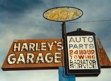 Segno del garage di Harley Fotografie Stock