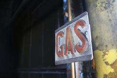 Segno del gas Immagine Stock