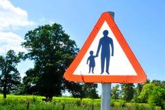 Segno del genitore e del bambino fotografie stock