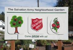 Segno del giardino della vicinanza della Comunità Immagine Stock Libera da Diritti