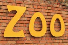 Segno del giardino zoologico Fotografia Stock Libera da Diritti