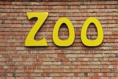 Segno del giardino zoologico immagine stock